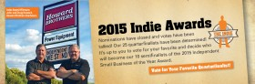 Congratulations to our 25 Quarterfinalists of the 2015 Indie Awards