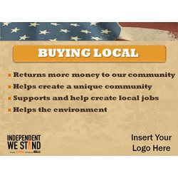Independent We Stand buy local powerpoint