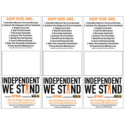 Independent We Stand bag stuffers