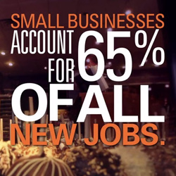 Small Business accounts for new jobs