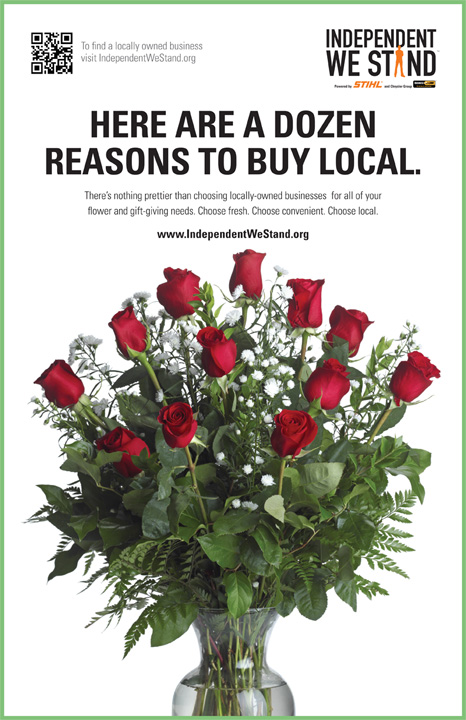 show your love for local this valentine's day - independent we, Ideas