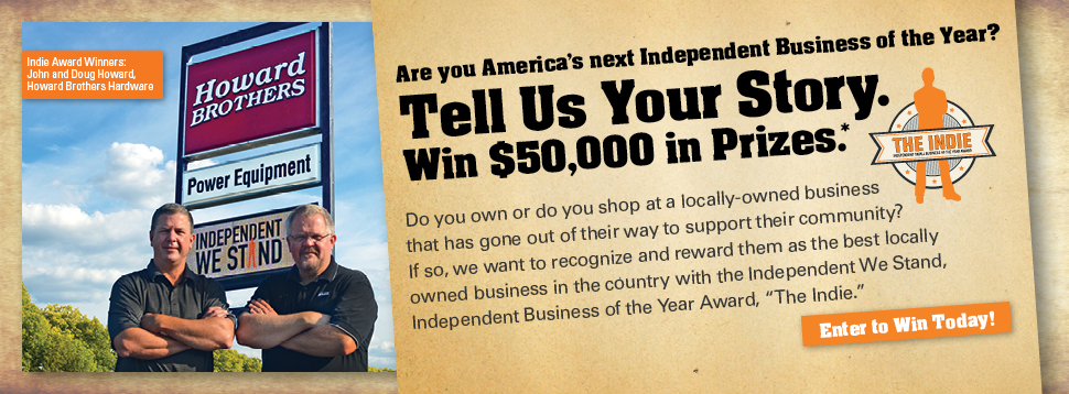 Indie Award Banner