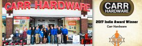 Carr Hardware Named 2017 Independent Small Business of the Year