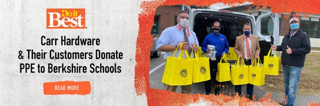 Carr Hardware and their Customers Donate PPE to Local Schools
