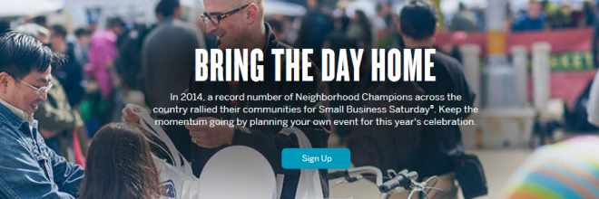 Small Business Saturday: Become a Neighborhood Champion