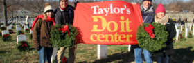 Taylor's Do it Center Honors Local Veterans with Christmas Wreaths