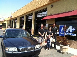 Community Tire Pros gives mom and daughter the keys